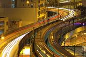 Traffic highway night, Hong Kong — Stock Photo
