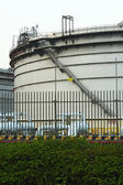 Gas tanks in the industrial estate — Stock Photo