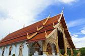Thai northern style church of Wat chadi liam — Stock Photo