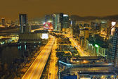 Traffic night in urban city — Stock Photo