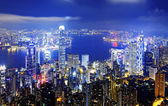 Hongkong night — Stock fotografie