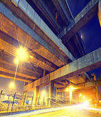 City Road overpass at night with lights  — Stock Photo