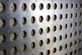Black speaker lattice background — Stock Photo