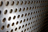 Black speaker lattice background — Stock Photo