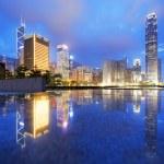 Hong Kong Skylines at sunset — Stock Photo #46133663