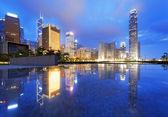 Hong Kong Skylines at sunset — Stock Photo