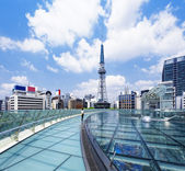 Nagoya downtown daytime, Japan City — Stock Photo