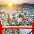 Sunset over Kyoto in Japan. — Stock Photo