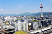 Japan skyline at Kyoto Tower. — Stock Photo