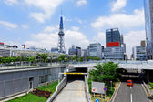 City skyline with Nagoya Tower. — Stock Photo