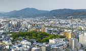 Sunset over Kyoto City in Japan. — Stock Photo