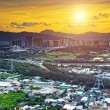 HongKong sunset , Yuen Long district — Stock Photo