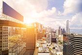 панораму гонконга — Стоковое фото