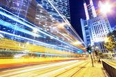 Hong kong modern city High speed traffic — Stock Photo