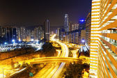 Traffic in Hong Kong city — Stockfoto