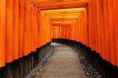 Fushimi inari taisha helgedom i kyoto city, japan — Stockfoto