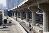 Freeway Overpasses and Train Tracks  — Stock Photo
