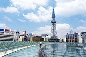 Skyline de la ciudad de japón con torre de nagoya — Foto de Stock