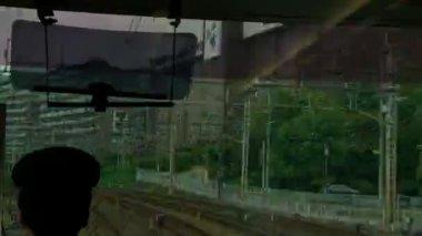 Train ride — Stock Video