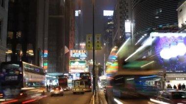 Hong kong en la noche — Vídeo de Stock