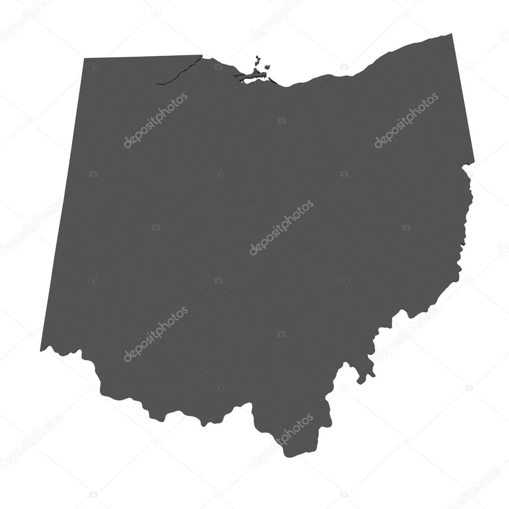 Map of Ohio - USA - nonshaded  Stock Photo #15384129