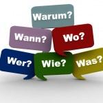 questions - allemandes — Photo