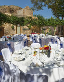 Wedding reception in Spain — Stock Photo