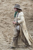Cowboy walking — Stock Photo