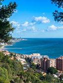 View looking west from Malaga Port — Stock Photo