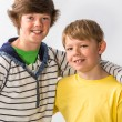 Stock Photo: Two Young Brothers Posing