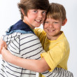 Two Young Brothers Posing — Stock Photo
