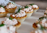 Finger Food at a Wedding reception — Stock Photo