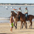 Sanlucar De Barrameda Beach Horse Racing 8th August 2013 — Stock Photo