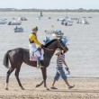 Sanlucar De Barrameda Beach Horse Racing 8th August 2013 — Stock Photo #29956425
