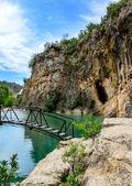 Cachoeira e rio bolbaite — Fotografia Stock