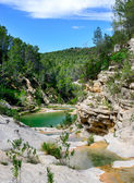 Los Charcos River and waterfall — Stock Photo