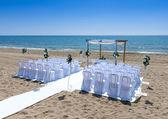 Wedding Venue on the Beach — Stock Photo