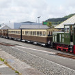 Vale of Rheidol Railway line Shunt Train — Stock Photo #5971813