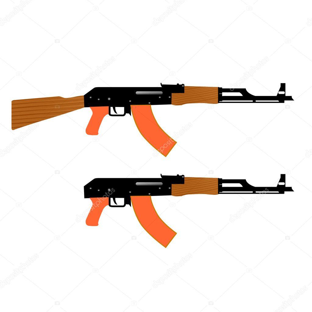 冲锋枪矢量图