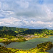 Acores sao miguel  sete cidades crater lakes - Stock Photo