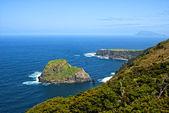 Acores, Noord kust van flores eiland — Stockfoto