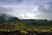 Cloudy mountains of flores acores islands — Stock Photo