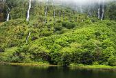 Acores lagoa das patos on flores island — Stock Photo