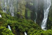 Waterfalls abbove lagoa das patos on flores island — Stock Photo