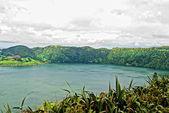 Acores sao miguel sete cidades crater lakes — Stock Photo