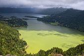 Sao miguel sete cidades lagoa verde — Stock Photo