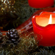 Advent Candle Light — Stock Photo #18108841
