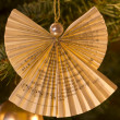 Angel Decoration on Christmas Tree — Stock Photo #18108845