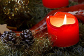Advent Candle Light — Stock Photo