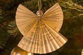 Angel Decoration on Christmas Tree — Stock Photo